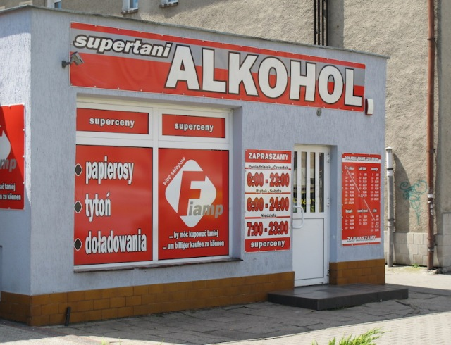 Polish bottle shop.