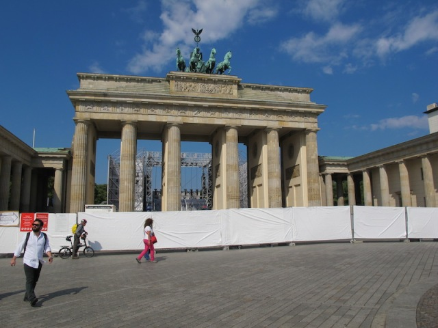 The Brandenburg Gate during the time we were in Berlin.