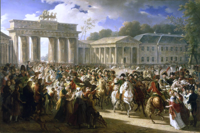 Napoleon and the gate. Credit Charles Maynier via Wikipedia.