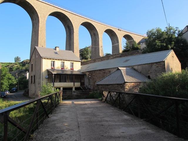 The amazing railway viaduct at Mirandol.