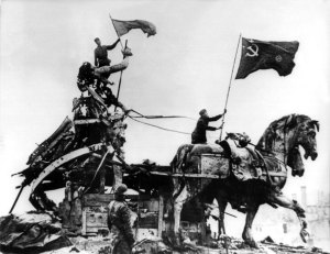 The quadriga in Soviet times.