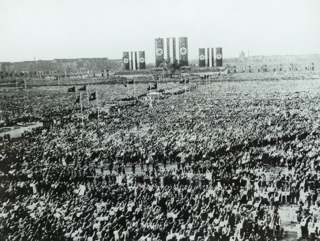 Mass rally Berlin in 1933.