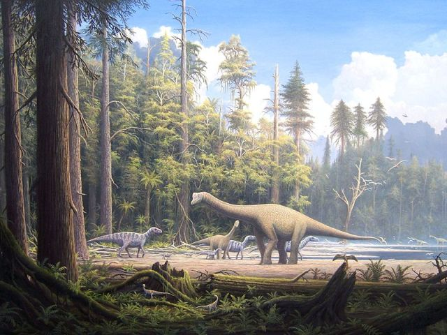The Central Massif during the Mesozoic era, a time when dinosaurs roamed, may have looked like this. By Gerhard Boeggemann CC-BY-SA-2.
