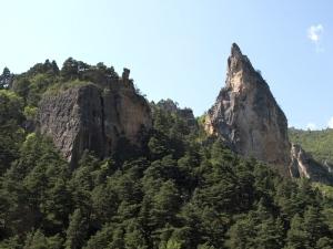 Aiguille Rock, eighty metres high.
