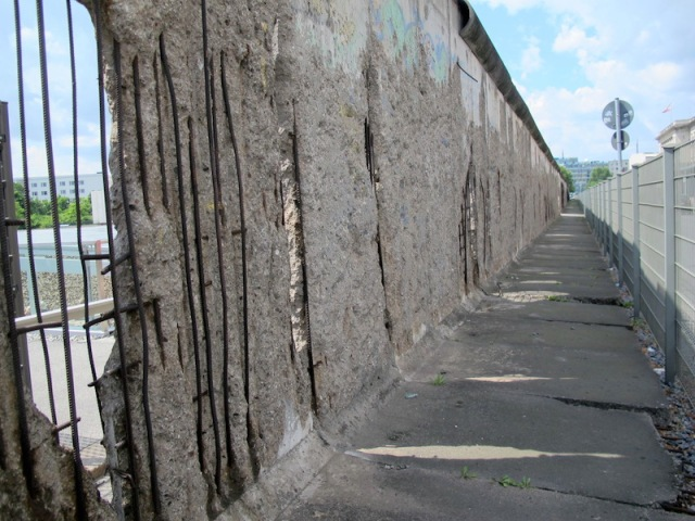 Reinforcing in the wall.