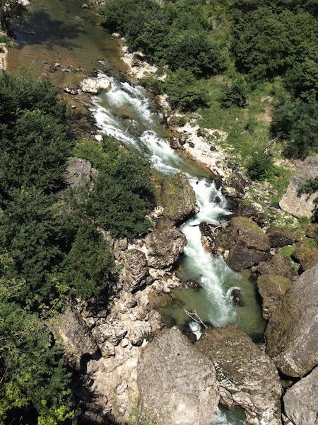 Pas de Soucy, a result of a landslide. Photo from Roc de la Sourde lookout