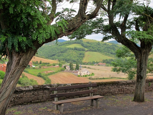Picturesque, rural France near Ouyres, where our friend Larry lives, is quite a contrast compared to Yuendumu.