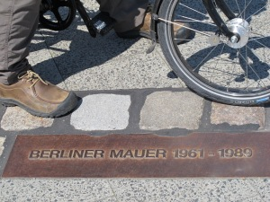 Cycling where once the Berlin Wall stood.