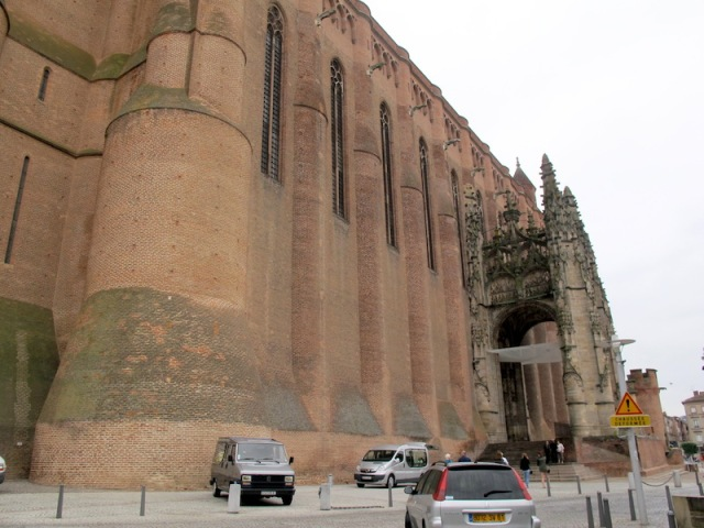 Cathedral of St Cecilia, Albi. It really is a big mass of building.