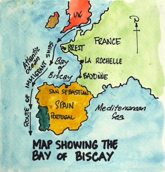 bay of biscay on map of europe wwwimgkidcom the