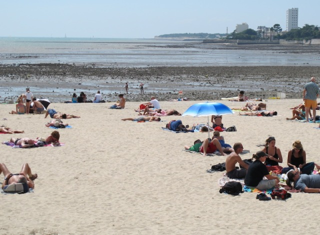 La Rochelle beach (on the European continental shelf) in the Bay of Biscay.