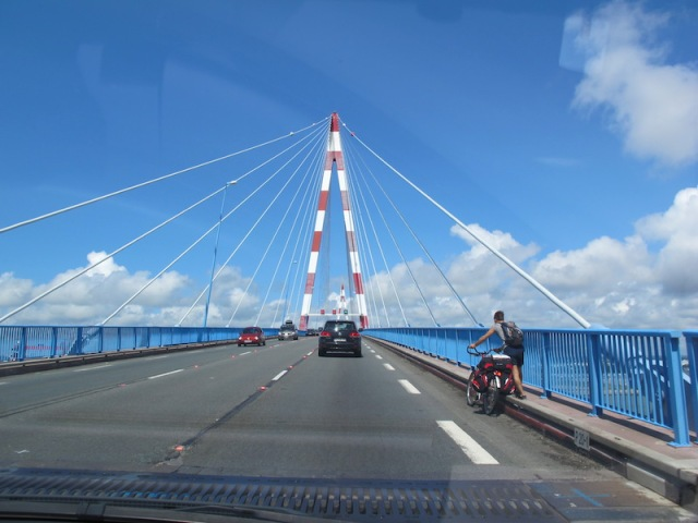 Bridge across the Loire River near St Nazaire.