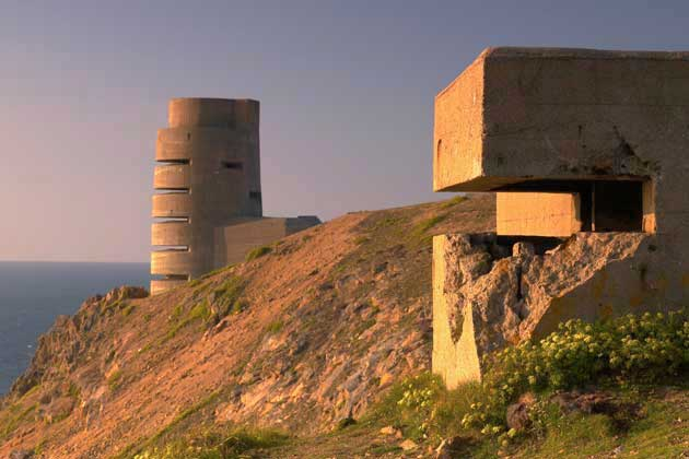 German WW2 fortifications. Hitler demanded the Channel Islands, including Jersey, be turned into an impregnable fortress. Image credit: www.jersey.com (Tourism Jersey web site)