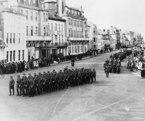 German troops arrive on the Channel Islands. The Germans arrived in July 1940. The occupation of the islands came to an end in June 1944 following the D-Day landings.   Image credit: National Trust Guernsey