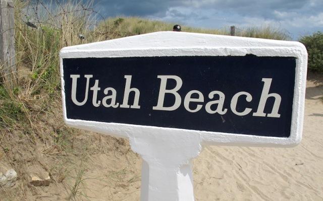 13 Utah beach sign