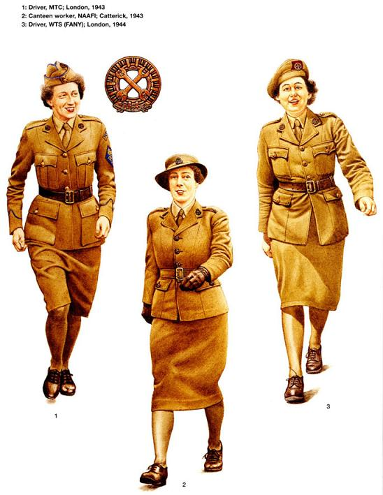 The girls of the MTC. The lapel insignia was two crossed spanners indicating to me these girls were very good at getting troublesome cars going. Image credit: www.histoireconstitution44.com
