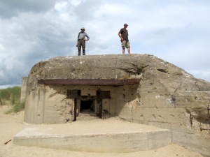 One of the many gun emplacements facing Utah Beach.