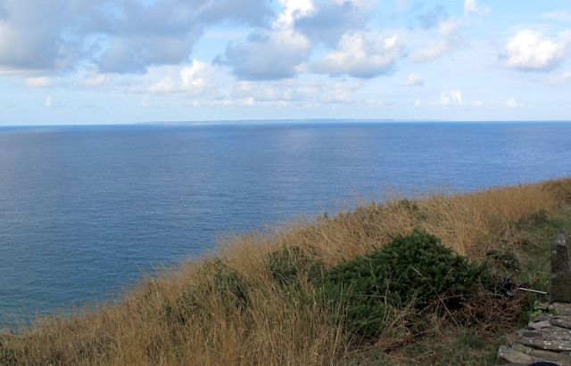 The Isle of Jersey on the horizon as seen from Cape Carteret Light.