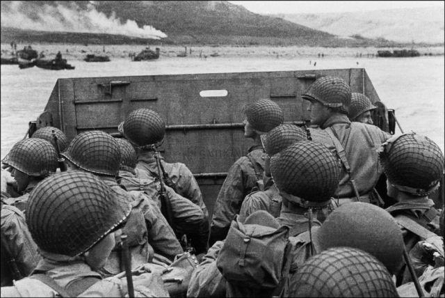 U.S. assault troops approaching a landing beach. Image credit: AFP via http://vcepinc.org web page.