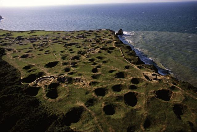 Pointe du Hoc near Omaha Beach pocked by D-Day bombardment. Image credit:Alexandra BOULAT.