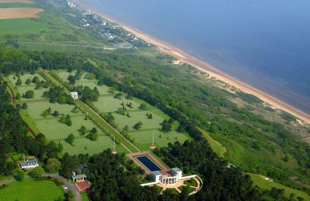 Aerial view of American War Cemetery. Image credit: Alexandra BOULAT.