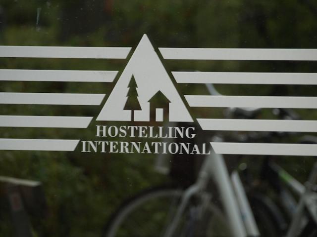 The nostalgic welcoming YHA logo.