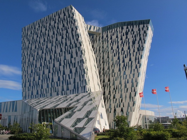 A closer view of the Bella Sky Hotel and convention centre..