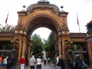 The grand entrance to the Tivoli Gardens.