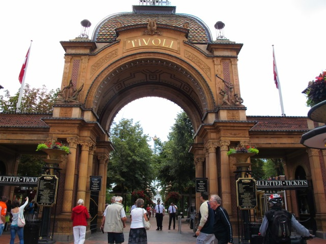 The grand entrance to the Tivoli Gardens.