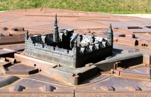 Bronze model of Castle Kronborg.