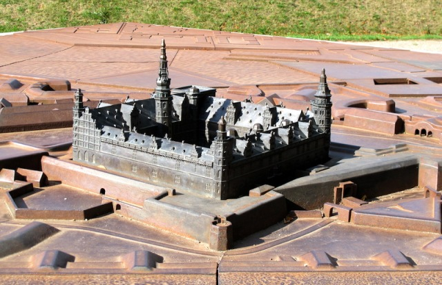 Bronze model of Castle Kronborg.