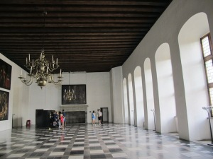 The grand hall of the castle.