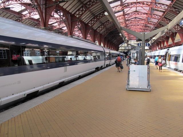Copenhagen railway station.