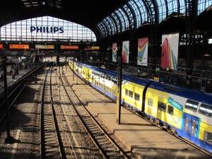 Hamburg railway station, another example of steel lattice construction.