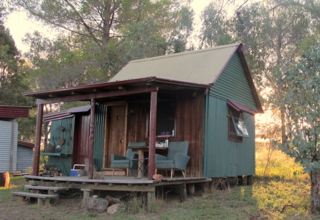 The shack on our property. Travellers stay here for free.