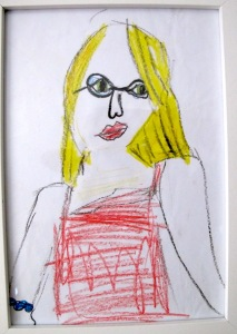A portrait drawn by Filippa when she was seven years old. It shows her talent for drawing.