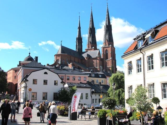 Uppsala Cathedral dominates the city.