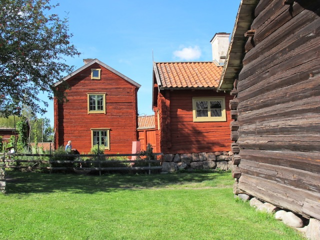 Caretaker's residence and one of the old farm buildings.