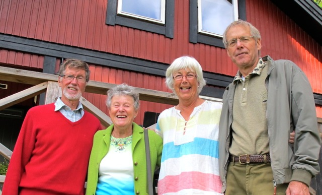 Sara's parents,Lars and Agneta (on the left), and friends Mona and Gosta.
