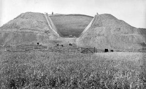 The 1874 excavation of one of the Uppsala Mounds.  Image credit: In the public domain.  From Wikipedia.