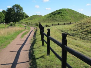 The mounds today.