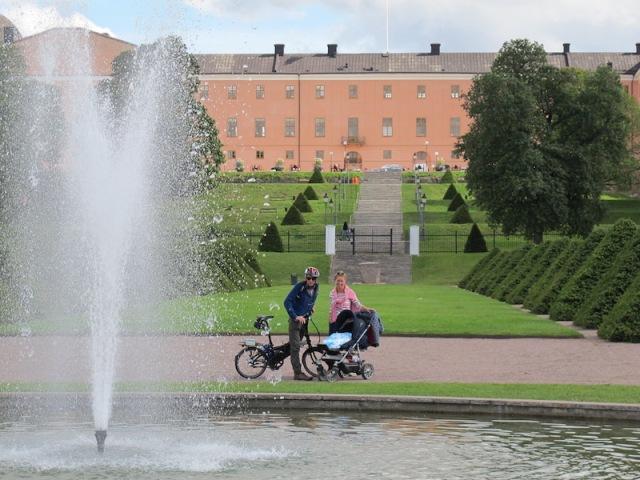 Baroque Garden section of the Uppsala Botanical Gardens.