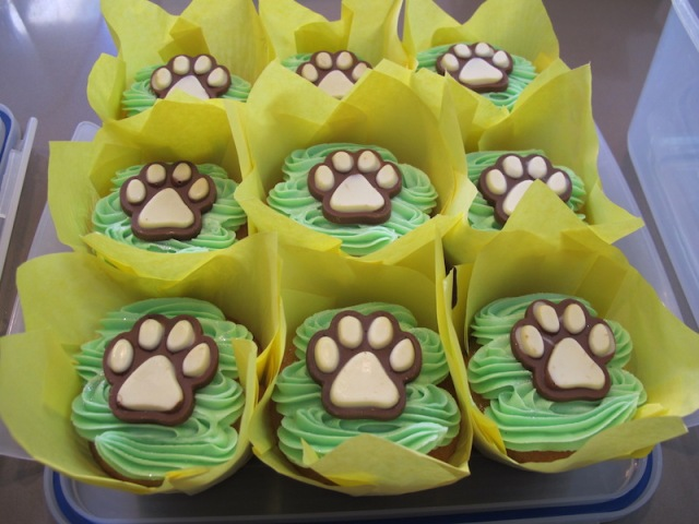Gill's cupcakes had a distinct dog flavour, not in taste but in theme.