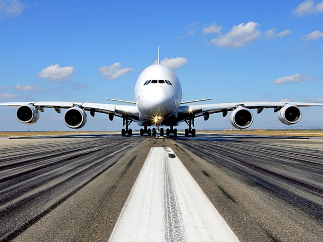 An unusual view of an A380. Image from official Airbus file.