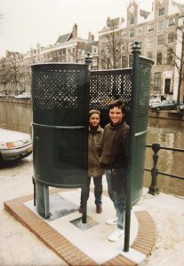 The 'dudes', as I called them, in a pissoir Amsterdam.