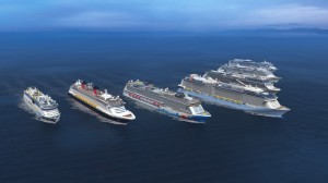 A few of the many luxury liners Meyer Werft, of Papenburg, Germany have built.  Image from Meyer Werft official web site.