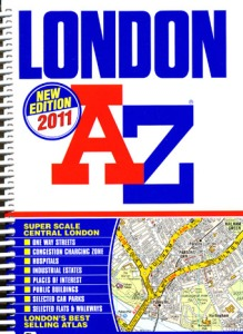 Modern day A-Z Atlas still on sale.  Image from Amazon catalogue.