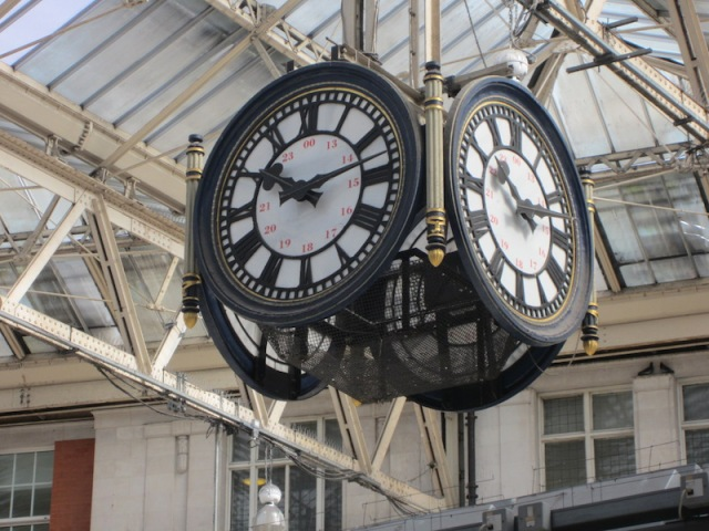 The Waterloo Station clock.