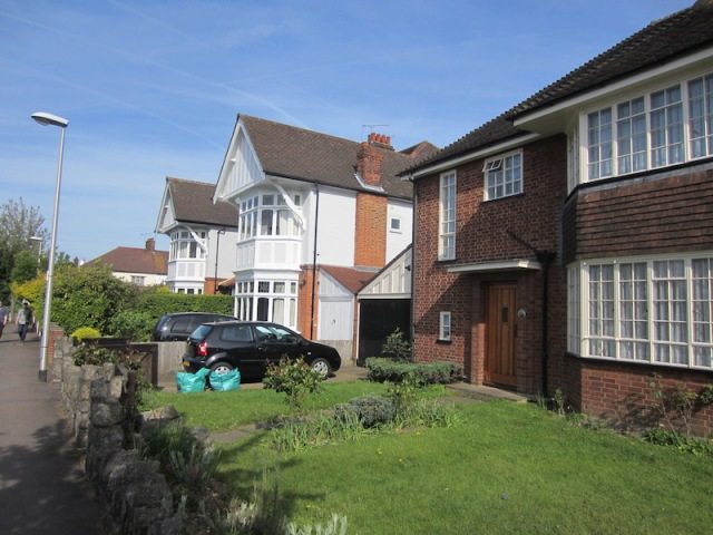 Old and new houses in Wanstead.