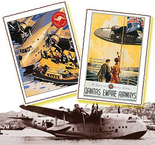 This is how it was in flying boat days. Image from Qantas Airways Archives.